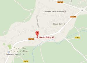 localizacion de Calderas Cantabria